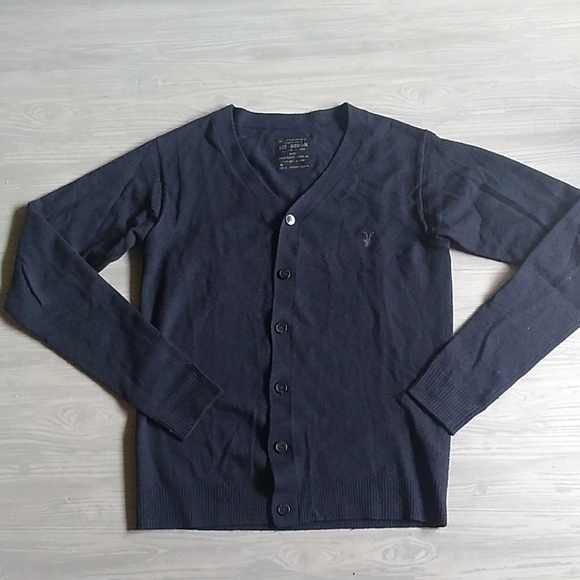 All Saints Other - {All Saints} 100% Wool Navy Button Down Cardigan